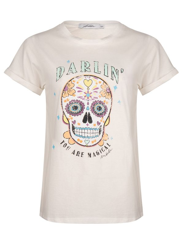 Ambika T-Shirt Darling Skull Wit