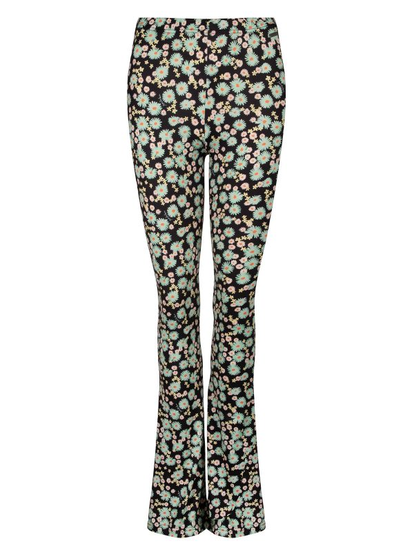 Ambika Broek Soft Flare Elin Flower Mint Daisy