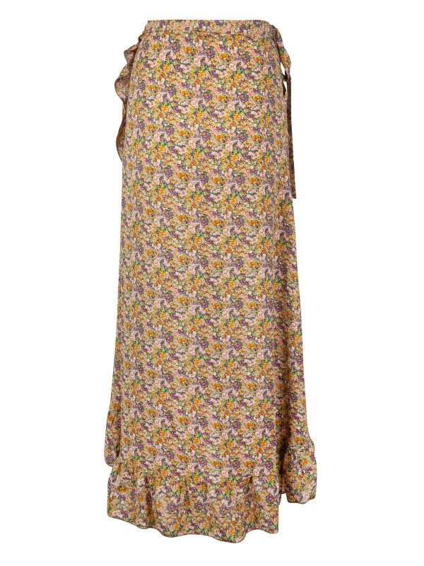 Ambika Rok Lang Thyme Yellow Flower Ruches back