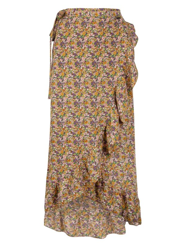 Ambika Rok Lang Thyme Yellow Flower Ruches